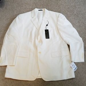 Mens Andrew Fezz Cream Blazer/Sports coat 42 short